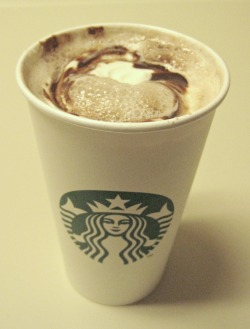 Hot chocolate from Starbucks