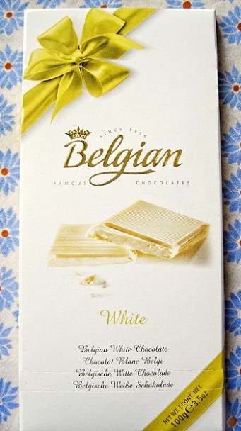 The Belgian white chocolate