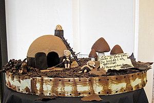 Chocolate sculpture Hat cabin