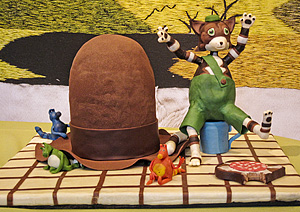 Chocolate sculpture Pettson and Findus